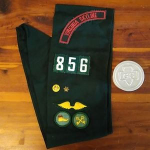 VINTAGE* GIRL SCOUTS SASH & CUP
